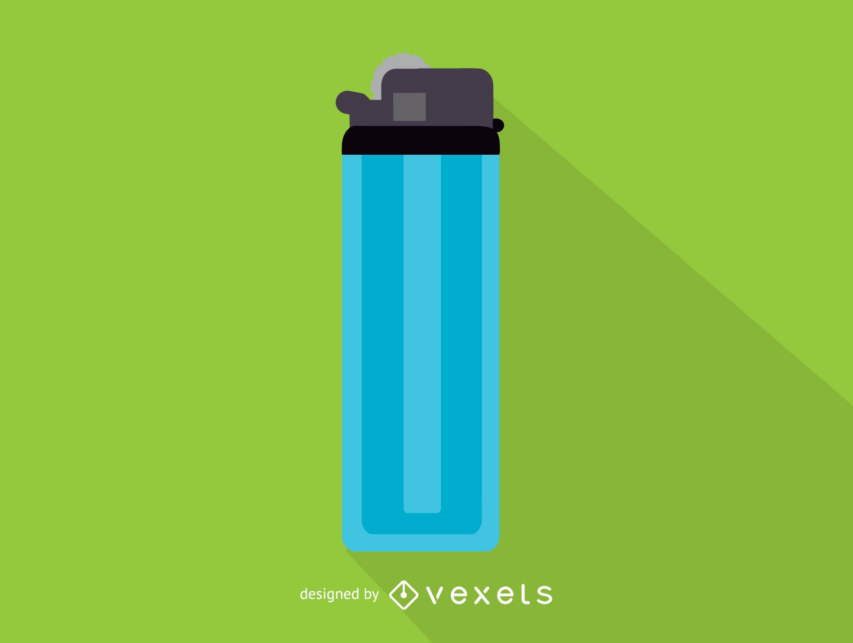 Blue lighter simple icon