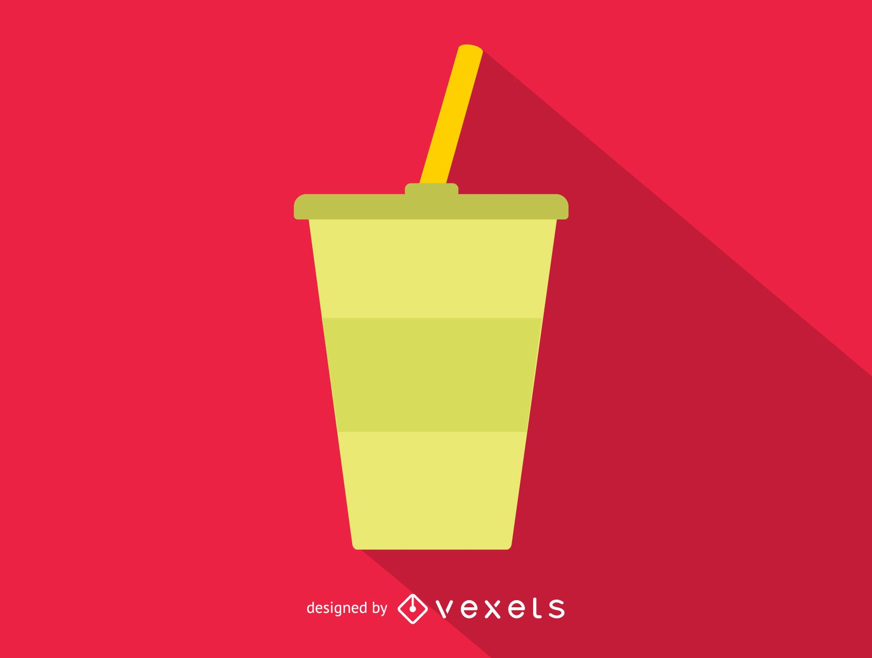 Soft drink cup simple icon