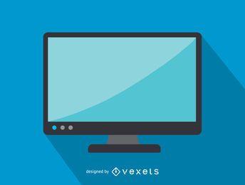 Icono de oficina de pantalla de televisión