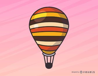 Einfache Heißluftballonillustration