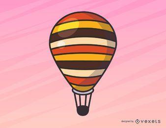 Simple ilustración de globo de aire caliente