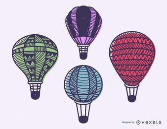 Conjunto de balão de ar quente de acidente vascular cerebral
