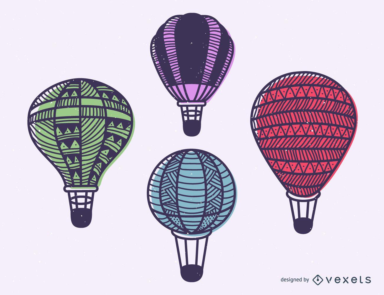 Stroke hot air balloon set