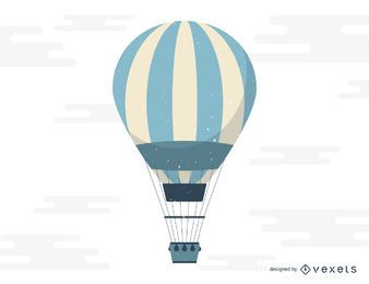 Hot air balloon flight illustration