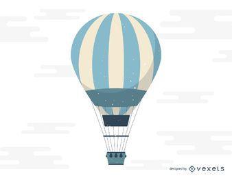 Ilustração de voo de balão de ar quente