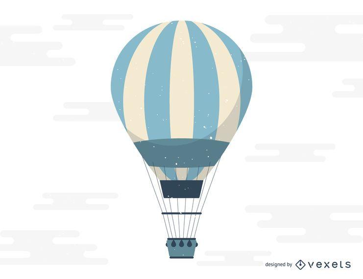 Ilustración de vuelo de globo de aire caliente