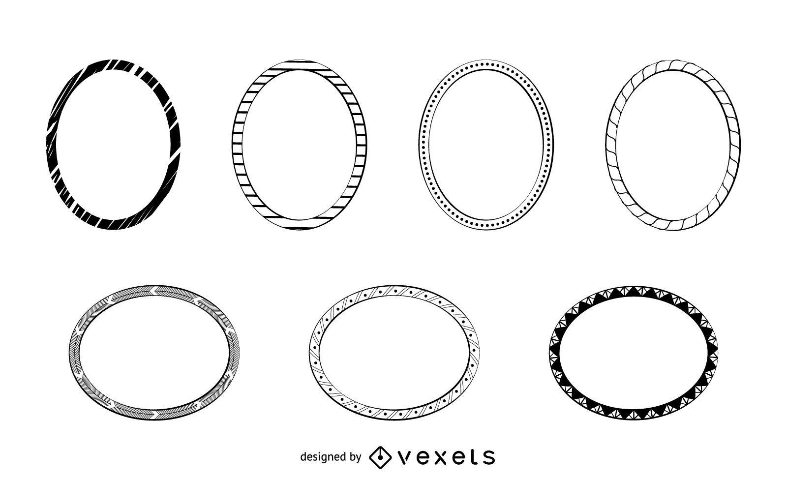 Frames doodles set