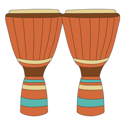 Conga musical instrument doodle
