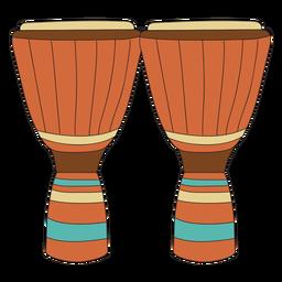 Doodle de instrumento musical conga.
