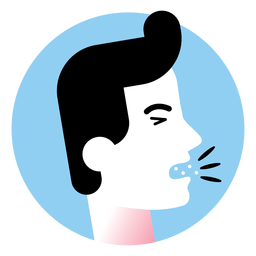 Cough sickness symptom icon