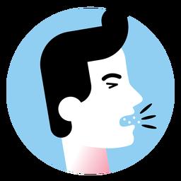 Icono de síntoma de enfermedad de tos
