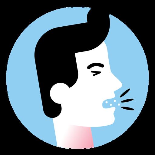 Cough sickness symptom icon Transparent PNG