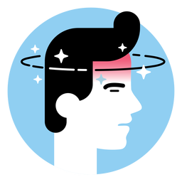 Dizziness sickness symptom icon