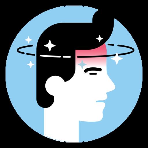 Dizziness sickness symptom icon