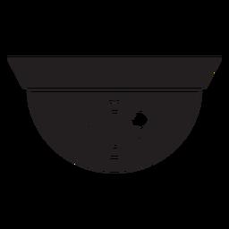 Dome ícone plana de câmera de segurança