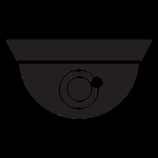 Cámara domo icono plana de seguridad Transparent PNG