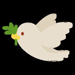 Pomba com ramo de oliveira