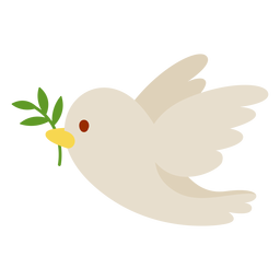 Taube mit Olivenzweig