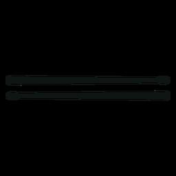 Silhueta de baquetas de tambor