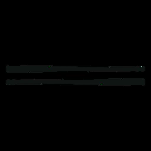 Drum drumsticks silhouette - Transparent PNG & SVG vector