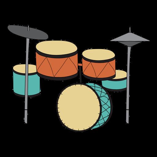 Drum set musical instrument doodle Transparent PNG