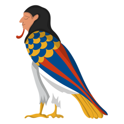 Egiptian ba bird illustration