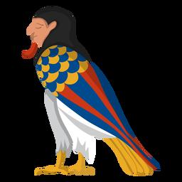 Ilustración de pájaro egipcio ba