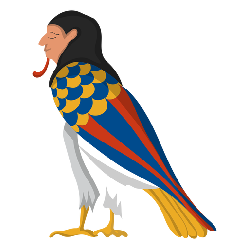 Egiptian ba bird illustration Transparent PNG