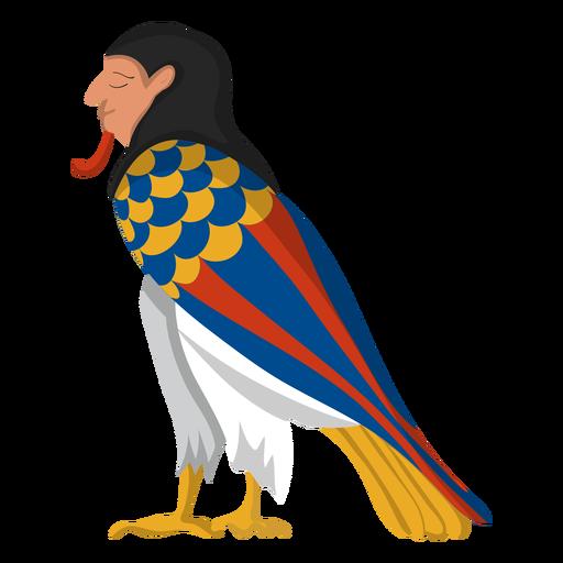 Ilustración de pájaro egipcio ba Transparent PNG