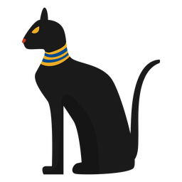 Egiptian cat statue illustration