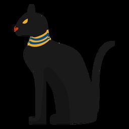 Ilustración de la estatua del gato egipcio
