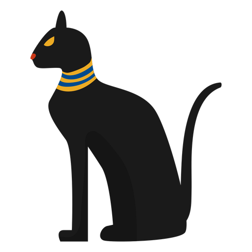Egiptian cat statue illustration Transparent PNG