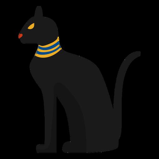 Ilustración de la estatua del gato egipcio Transparent PNG