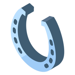 Eight holes silver horseshoe icon