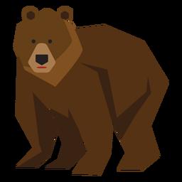 Ilustración anciano de oso pardo