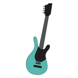 Electric guitar musical instrument doodle