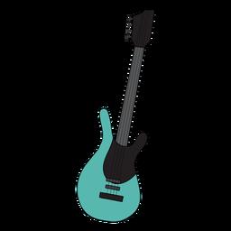 Guitarra electrica instrumento musical doodle.
