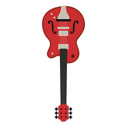 Icono de instrumento musical de guitarra eléctrica