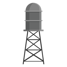Elevated water storage tank icon