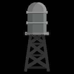 Icono de tanque de almacenamiento de agua elevado