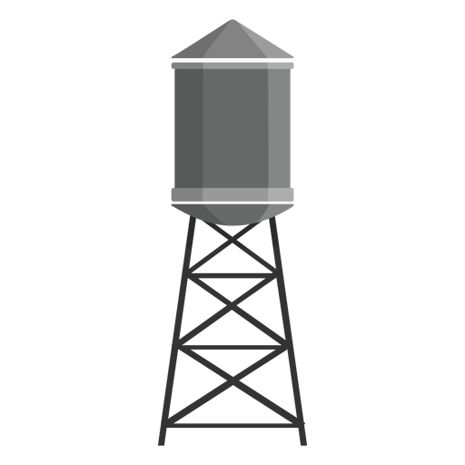 Elevated water tank icon Transparent PNG