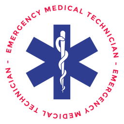Emergency medical technician badge