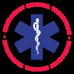 Placa de técnico médico de urgencias.