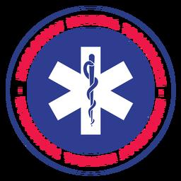 Logotipo técnico de emergencias médicas.