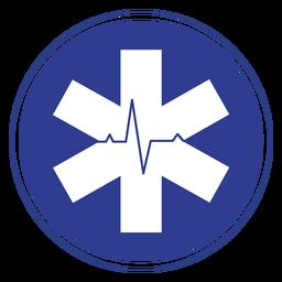 Emblema da frequência cardíaca de Emt