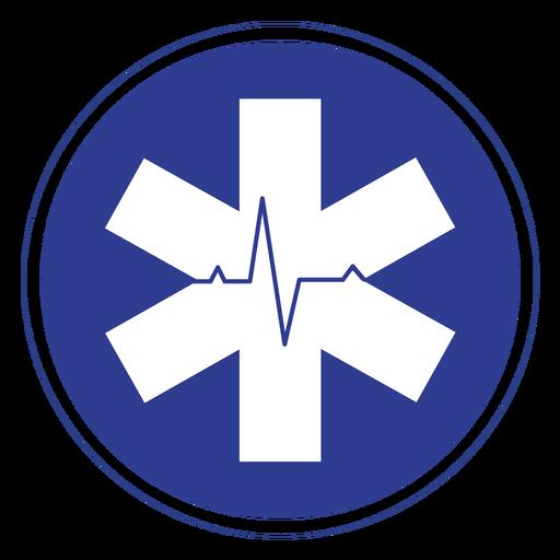 Emt heart rate badge Transparent PNG