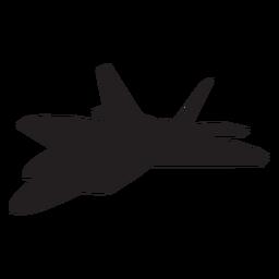 Silhueta de aeronaves de caça F raptor 22