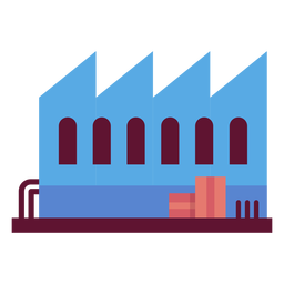 Factory building illustration