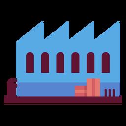 Ilustração de construção de fábrica