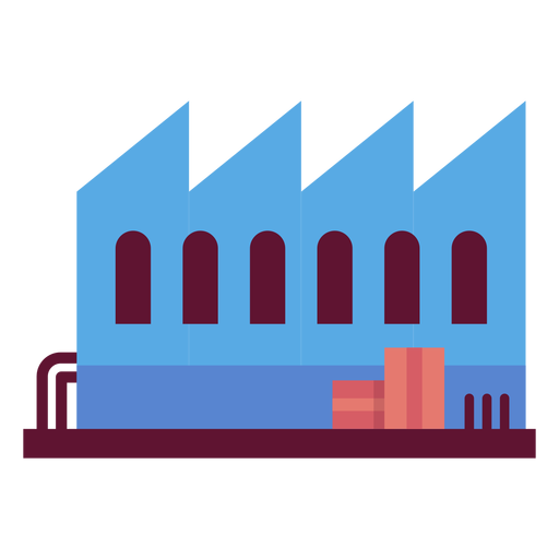 Factory building illustration Transparent PNG